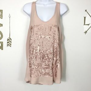 MOSSIMO SEQUINED TANK TOP